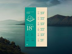 Blue/green Forecast Weather App theme