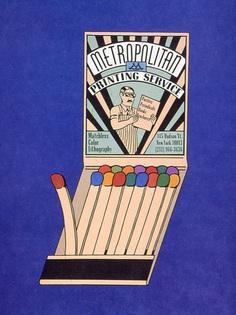 seymour chwast, Metropolitan Printing AD in Push Pin Graphic