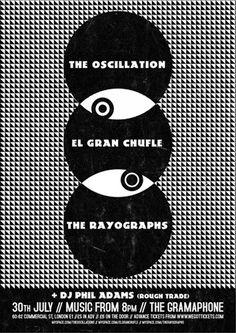 The Oscillation Linda Joy #& #white #posters #black