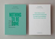 design work life » Kerr Vernon: That's Impressive Print Promotion #green #print #color #postcards #pastel
