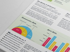 Free Clean Infographic Resume Template for Job Seeker
