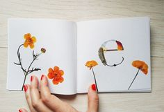 Herbario. Tipografía experimental : Haizea Nájera : Portfolios : Domestika #collage #floral #typography