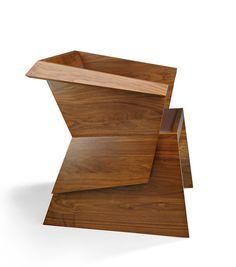 Khai Liew #fold #walnut #modern #chair #japanese #danish #crafted #furniture #origami #elegant #folded #australian