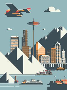 Seattle print #seattle #print #design #illustration #usa