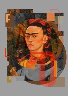 9 most famous self-portraits by Dilk Kickit on Behance #dilkone #dilk #poster #khalo #frida