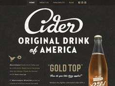 Eastciders Website by Simon Walker & Gerren Lamson #lettering #script #design #cider #website #product #web