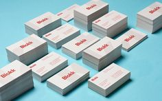onestepcreative » Identity System for Blokk #business #design #graphic #cards #typography