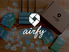 airfy — Designing better WiFi experience #ux #ios #design #brand #identity #logo