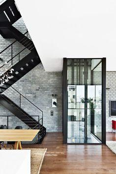 tokyo bleep #stairs #wood #elevator #black