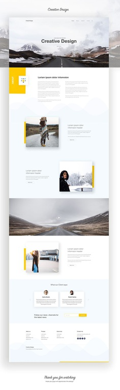 Creative Landing Page Design on Behance