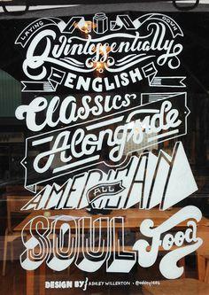 Window Illustration for Jam Jar #inspiration #lettering #script #hand #typography