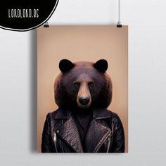 #animals #clothe  #fashion #wild #bear #poster