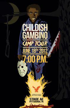 Childish Gambino Poster by Nick Spanos