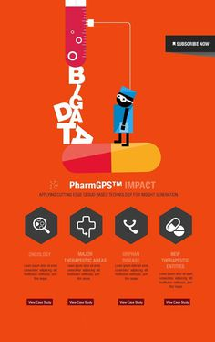 Layout (disposición) #pharma #orange #concept #layout #typography