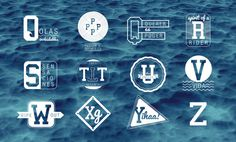 The Seaside Alphabet on Typography Served #logo #typography