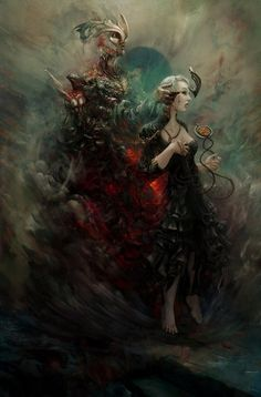 Fiend by ~rafa-insane on deviantART #painting #rafe insane #fiend