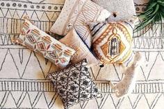tufted moroccan rug boho decor 1