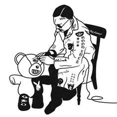 #artwork #black #illustration #art #artwork #tattoo #play #man #character #logo #symbol