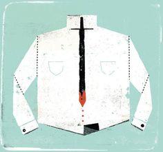 FFFFOUND! | curt merlo #blood #illustration #sword #shirt