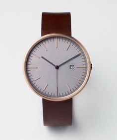 203 SERIES (PVD Rose Gold / Walnut Leather) | Uniform Wares #clock #watch