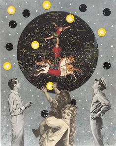 Dream Big, collage and paint, 2015