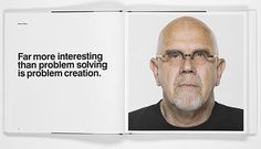 Inner spread of a book with Helvetica Type & a portrait #chuck #close #helvetica #book