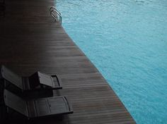 DeadFix » waters edge #matte #chairs #deck #black #pool #architecture #swimming