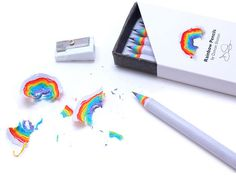 rainbow pencils by duncan shotton made from recycled paper