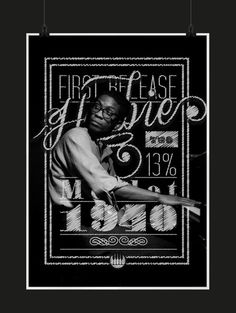 The Golden Age of Jazz on Behance #hancock #jazz #tipography #wine #herbie #poster