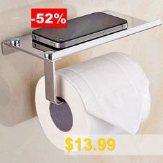 304 #Stainless #Steel #Toilet #Tissue #Holder #Bathroom #Phone #Rack #Mini #Storage #Box #- #SILVER