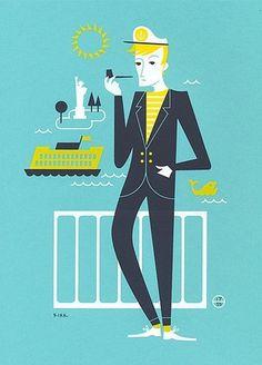Man Smoking Pipe #illustration