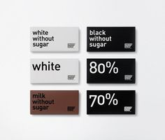 Chocolat Factory ruiz+company #white #packaging #design #graphic #black #chocolate #minimal #and #type