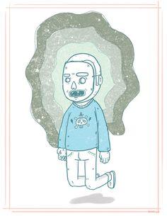 El chico malavibra. #design #sci #fi #illustration #skull #character