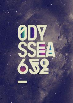 Odyssea 2010, by Pablo Alfieri #inspiration #creative #universe #design #graphic #stars #poster #typography