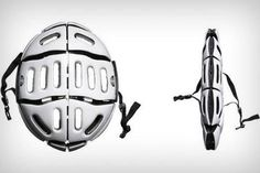 Conveniently portable, the Morpherhelmet Folding Helmet is perfect for cyclists to stay safe during their commute and folds away after arriv #lifestyle #design #travel #product #industrial #outdoor