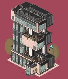 Animated Architectural Letterforms_1 #illustration #building
