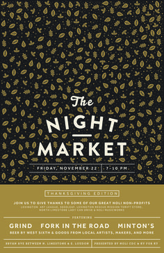 NightMarket_November #market #event #astrology #design #publicity #night #kentucky #thanksgiving #autumn #poster #moon