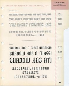 Shadow type specimen #type #specimen