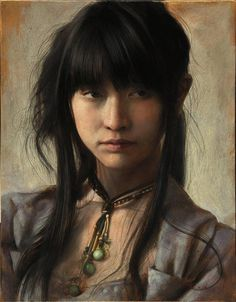 Incredible Detailed Painting Portrait by Osamu Obi #painting #female #artwork #inspirations