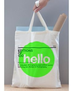 FFFFOUND! | Editions of100 - TheDieline.com - Package Design Blog #bag #design