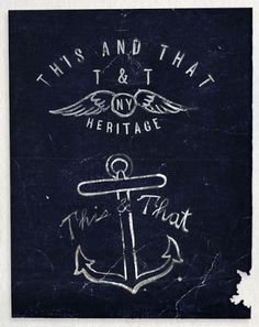 THIS N THAT HERITAGE #branding #design #logo #identity #vintage #navy #type #anchor #typography