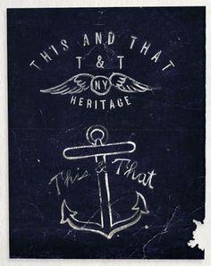 THIS N THAT HERITAGE #branding #design #logo #identity #vintage #type #anchor #typography