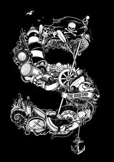 The Good Ship – Ilovedust – Illustrators & Artists Agents – Début Art #typography