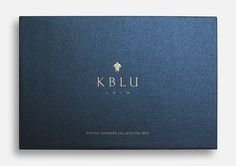 K.BLU swimwear logo. Branding for a sophisticated swimwear line. Branding/Art direction by Bravo. #kblu