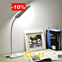 BRELONG # LED #Table #Lamp #Dimming #Study #Reading #Lamp #USB #Output #Charging #- #WHITE