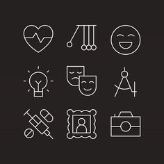 Makers Company – Icon Design. A collection of rejects, now having their moment of fame. #icon  #icons  #iconography  #vector  #lineicon  #