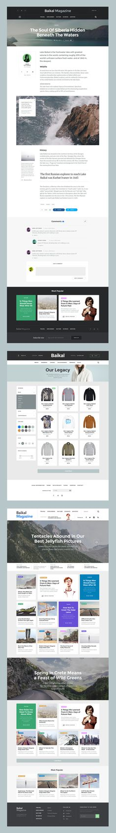 Basic Templates #ui #kit #web #design #website