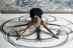 Usage of Body for Creating Charcoal Drawing by Heather Hansen #charcoal #drawing