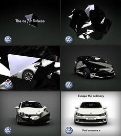 Volkswagen   Projects   ManvsMachine #scirocco #man #animation #machine