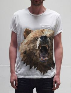 OSO / BEAR on the Behance Network #angular #bear #triangles #shirt